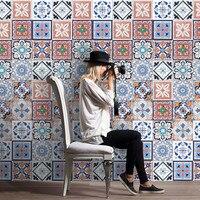 25 Adet Kendinden Yapışkanlı Çini Sanatı Duvar Çıkartması Sticker DIY Mutfak Banyo dekor Vinil 20 cm x 500 cm Bir rulo 25 adet Çini Sticker duvar çıkartması