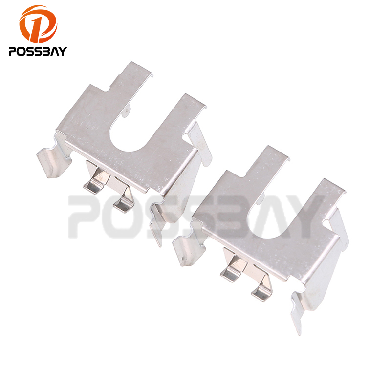 POSSBAY Silver H7 Far/Low Beam HID Headlamp Headlight Bulb Holders Adapters For Ford Mondeo MK4 Headlights Base