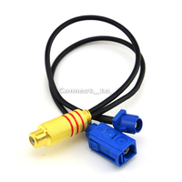 2 In 1 Fakra C Plug Male And Female To RCA Female Connector Extension Cable RG174