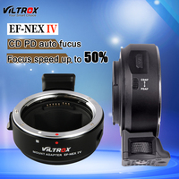 Viltrox AF Auto Focus EF-NEX IV Lens Adapter Tube Ring For Canon EF EF-S lens to Sony E Mount A7RIII A7S II A9 A6500 NEX7 A6300