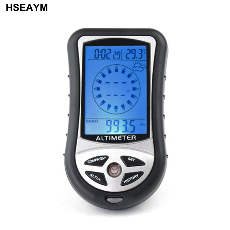 HSEAYM 8 in 1  Electronic Altimeter Compass Barometer Elevation  Table Outdoor Thermometer Hunting Hiking Fishing Compass8 in 1  altimeterthermometer hikinghiking thermometer