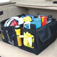 Large Capacity Multifunction Foldable Car Trunk Cargo Storage Box Organizer