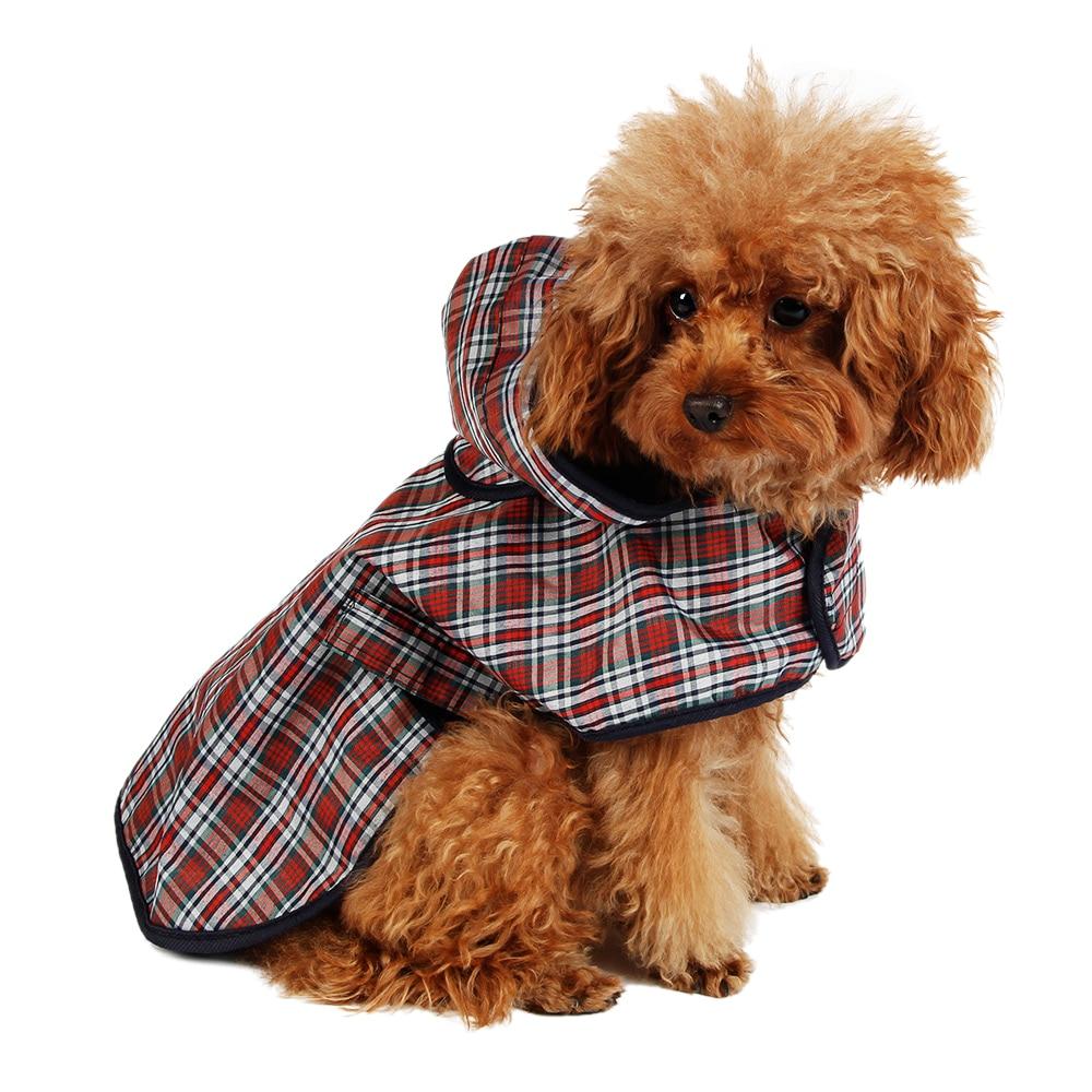 Hundkläder Lättvikt Regnskydd Pet Jacka Reflekterande Regn Pet Justerbar Vattentät Andasdrager S / M / L / XL Djurkläder