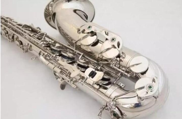 Custom Quality France R54 B flatMusical Instrument Tenor saxophone Silver Nickel Plated Saxophone Professional Free shipping 2018 luxury brand handbags women bags designer leather female messenger bags casual tote ladies shoulder bags bolsa feminina 282