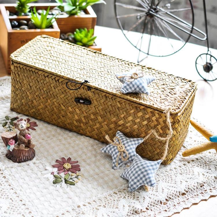 Kuti ruajtëse e mesme dhe e vogël rurale e punuar me dorë Shporta - Magazinimi dhe organizimi në shtëpi - Foto 3