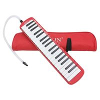 1 Set 37 Piano Keys Melodica Pianica Musical Instrument With Carrying Bag For Students Beginners Kids