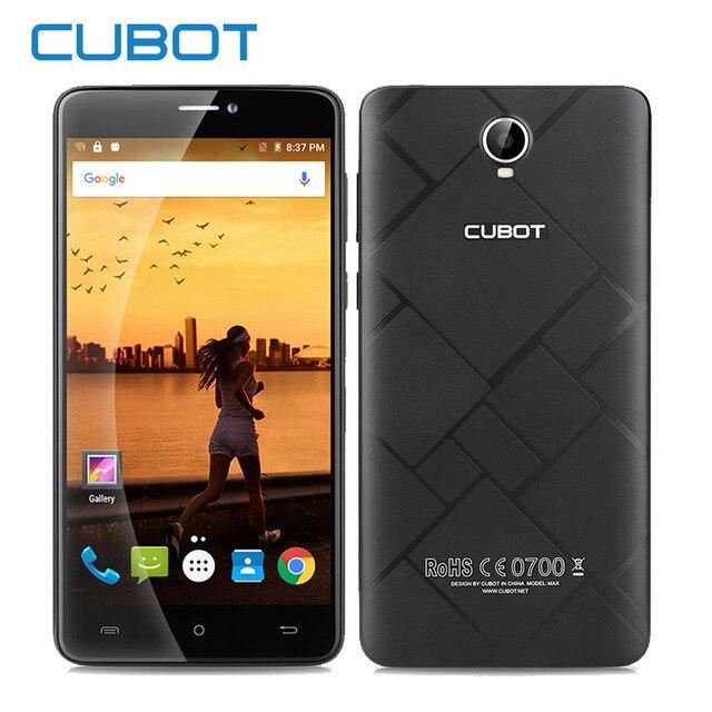Оригинал Cubot Макс MT6753A Окта Ядро Android 6.0 Смартфон 3 ГБ 32 ГБ 4100 мАч Сотовые Телефоны 6.0 Дюймов HD 4 Г LTE Mobile телефон