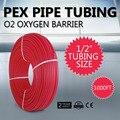 VEVOR Новый 1/2in x 1000ft ножная трубка из сшитого полиэтилена кислородный барьер O2 EVOH Pex-B красный лучистый напольный тепло