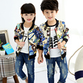 Children's clothing 2016 spring and autumn children casual outerwear baby boys/girls clothes kid cardigan top boys spring jacket