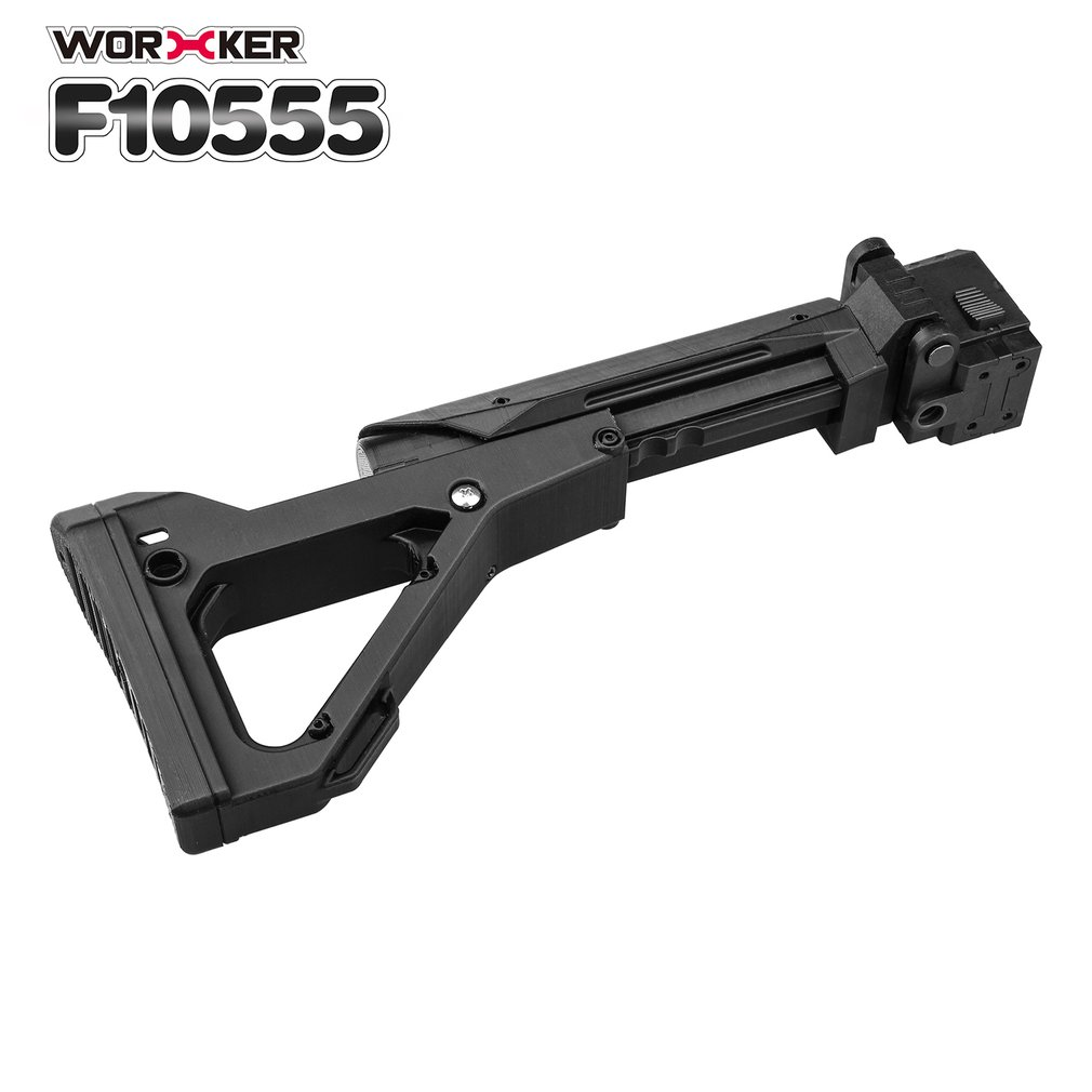 Worker Mod Shoulder Stock 3D Printing Foldable Tail Stock Buttstock Toy Gun Accessories For Nerf N strike Elite Series DIY Toys