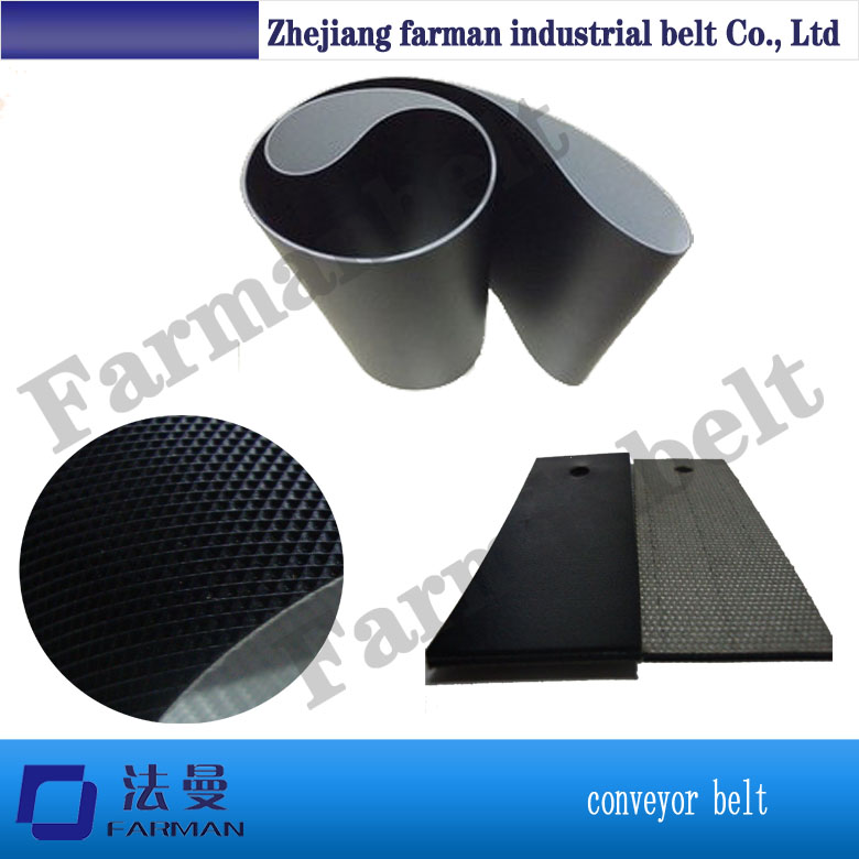 black color 5MM grass pattern rough surface PVC skid conveyor belt for packing machine цена 2017