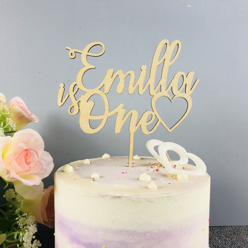 Personalized Name Happy Birthday Cake Topper Custom Gifts