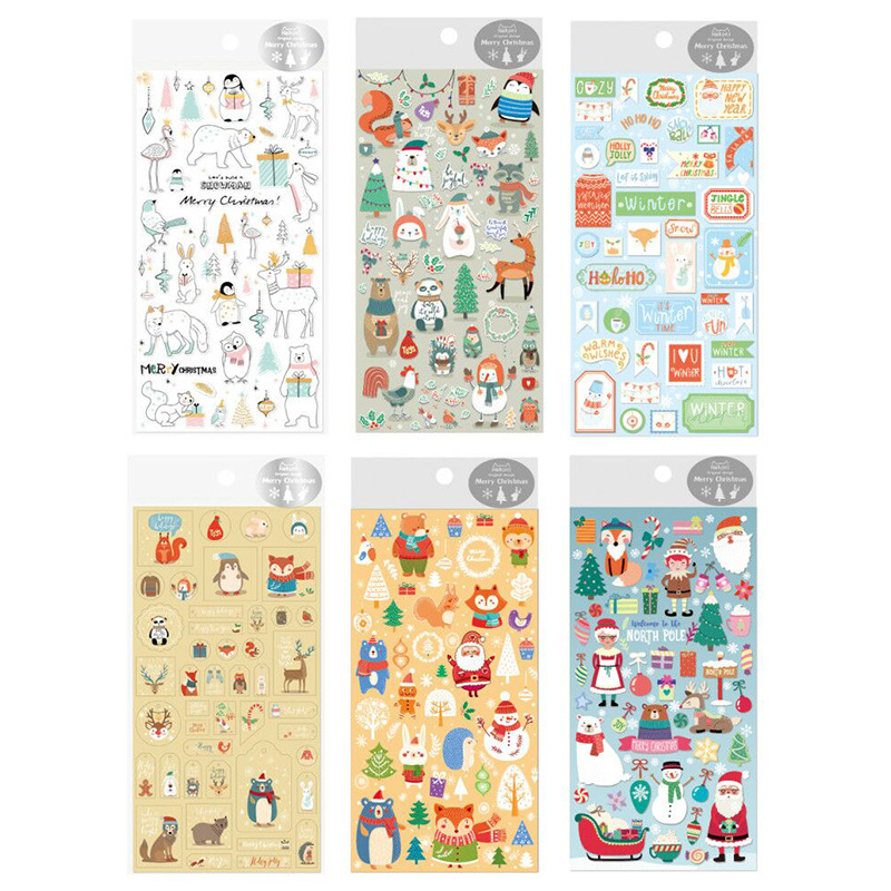 все цены на Christmas Party Decorative Stickers Scrapbooking Stick Label Diary Stationery Album Stickers