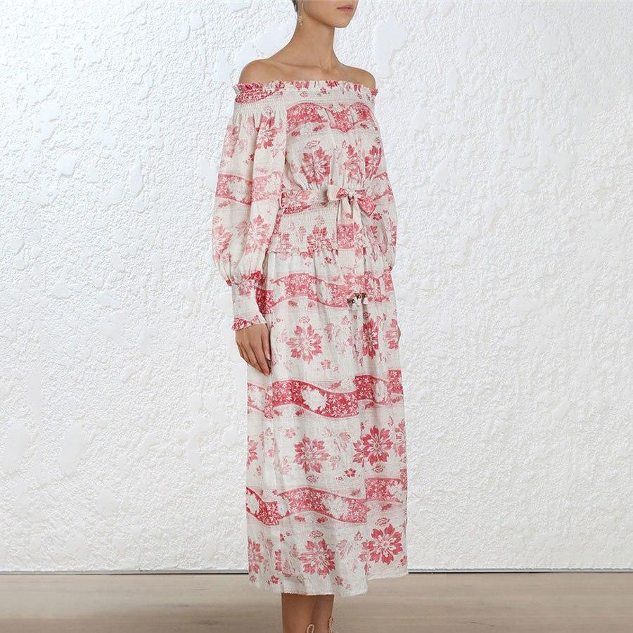 Femmes Sexy Angleterre Mode Slash 1 Robes Robe Rose Et Style Volants Plage De Vacances Cou Designer tq1waWxAwE