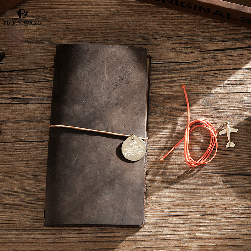 Hot Sale 100% Genuine Cow Leather Cover Retro Traveler's Notebook Diary Journal Vintage Handmade Travel Note Book Pocket Planner 2017 hot sale death note notebook