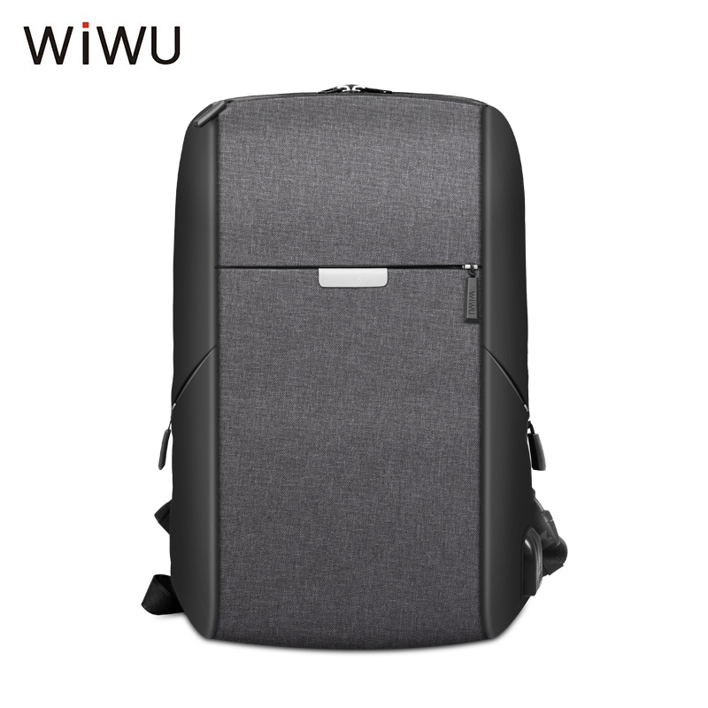 2018 WIWU New Anti-thief USB Charging Men Laptop Backpack 15.6 inch Business Travel Bag Large Capacity Stundet Backpack For Male ozuko new 15 6 inch laptop bag usb charging anti thief backpack men s casual school bag waterproof large capacity travel mochila