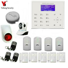 YobangSecurity Touch Screen Wireless Wifi GSM Auto Dial Home House Office Security Burglar Intruder Alarm With Video IP Camera