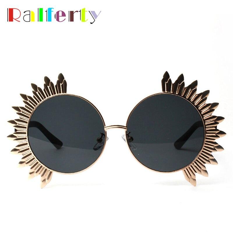 Ralferty 2017 Vintage Round Sunglasses Women Stylish Unique Sunglass Men Masquerade Mask Retro Eyewear European Sun Glass A1224