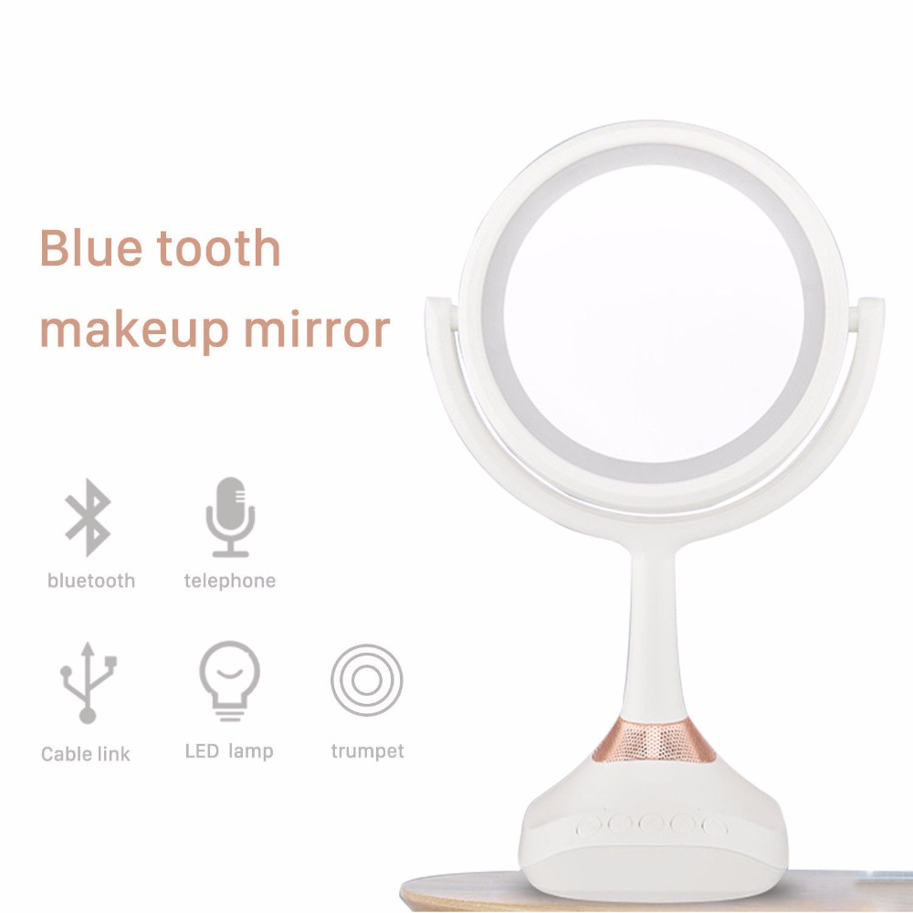 5X vanity mirror with lights Magnifying LED Double Sided Makeup Mirror Bluetooth Hands free Speakerphone lighted
