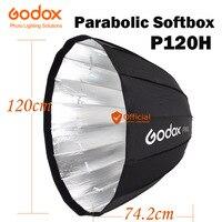 Godox портативный P120H 120 см Глубокий параболический софтбокс Bowens крепление зонт отражатель высокой температуры Фотостудия софтбокс