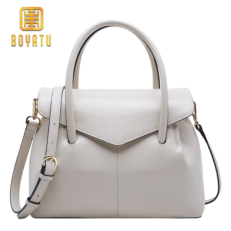 BOYATU Genuine Leather Shoulder Bags Female Luxury Handbags Women Bags Designer 2018 High Quality Ladies Brand Top-handle Party