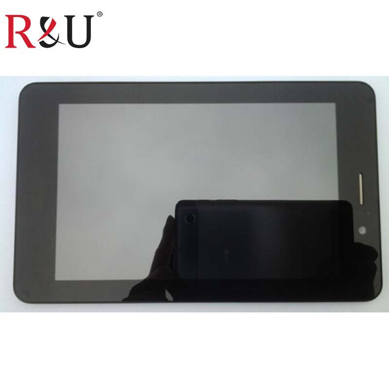 R&U high quality lcd screen display with touch screen panel digitizer assembly with frame For ASUS Fonepad ME371MG ME371 k004 free shipping rca 270414 rear replacement projection tv lamp projector light with housing for rca proyector projetor luz lambasi