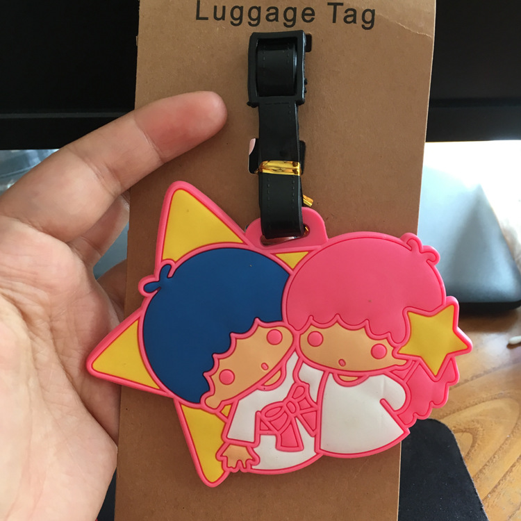 Manufacturers selling silicone luggage tag duo passes the boys and girls wholesale promotional gifts