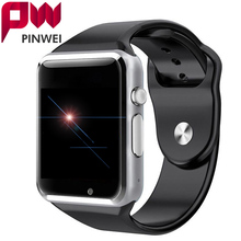 PINWEI A1 Touch Screen WristWatch Bluetooth Smart Watch Sport Pedometer With SIM Camera Smartwatch For Android Smartphone Russia