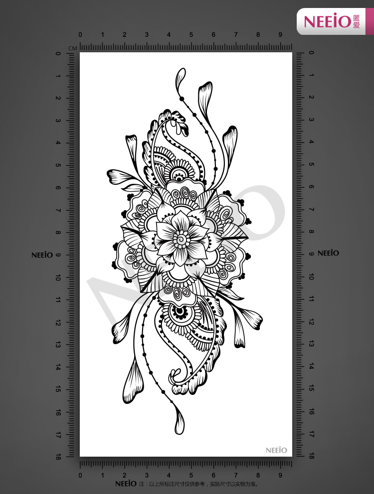 Ani010 neeio exotic indian lotus flower tattoo henna tattoos for ani010 neeio exotic indian lotus flower tattoo henna tattoos for female back abdomen waist waterproof sexy tattoo stickers in temporary tattoos from beauty mightylinksfo