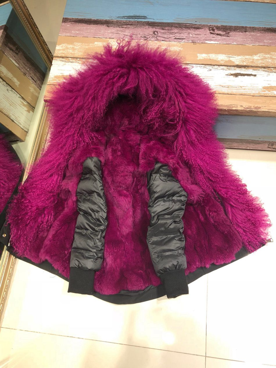 Parent-childs natural fur parkas with hood (8)