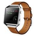 ¡ Venta caliente! de lujo del Cuero Genuino correa de Reloj Pulsera Fitbit Blaze Inteligente Reloj Deportivo Para Mujeres y Hombres