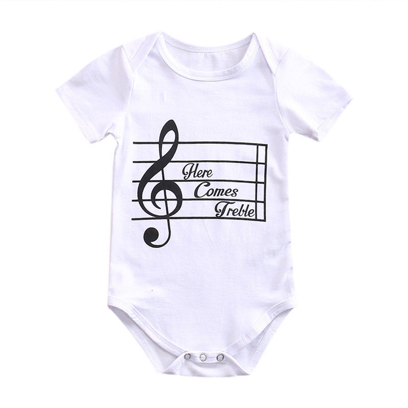 2017 Baby Girl Boy Summer Clothes New Born Body Baby Musical Symbols Jumpsuit Baby Bodysuit Easy To Use Mother & Kids Boys' Baby Clothing