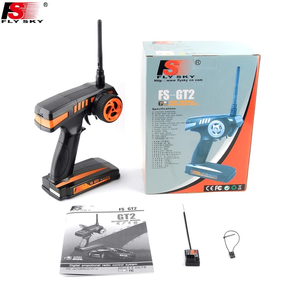1pcs Flysky FS-GT2 FS GT2 2.4G 2CH Gun RC System Transmitter/Controller With GR3E 3 Channels Receiver