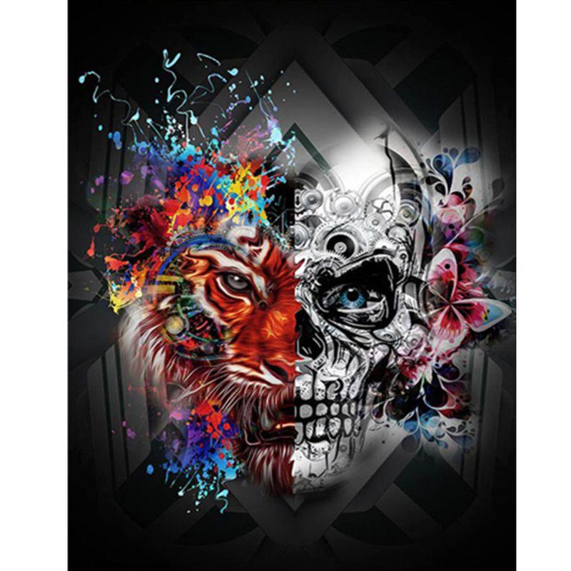 Skull DIY 5D Full Drill Diamond Painting Embroidery Cross Stitch Kit