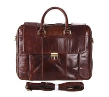 LOW Price Vintage Leather Men Chocoate Shoulder Bag Messenger Bag Crossbody Bag # 7227C
