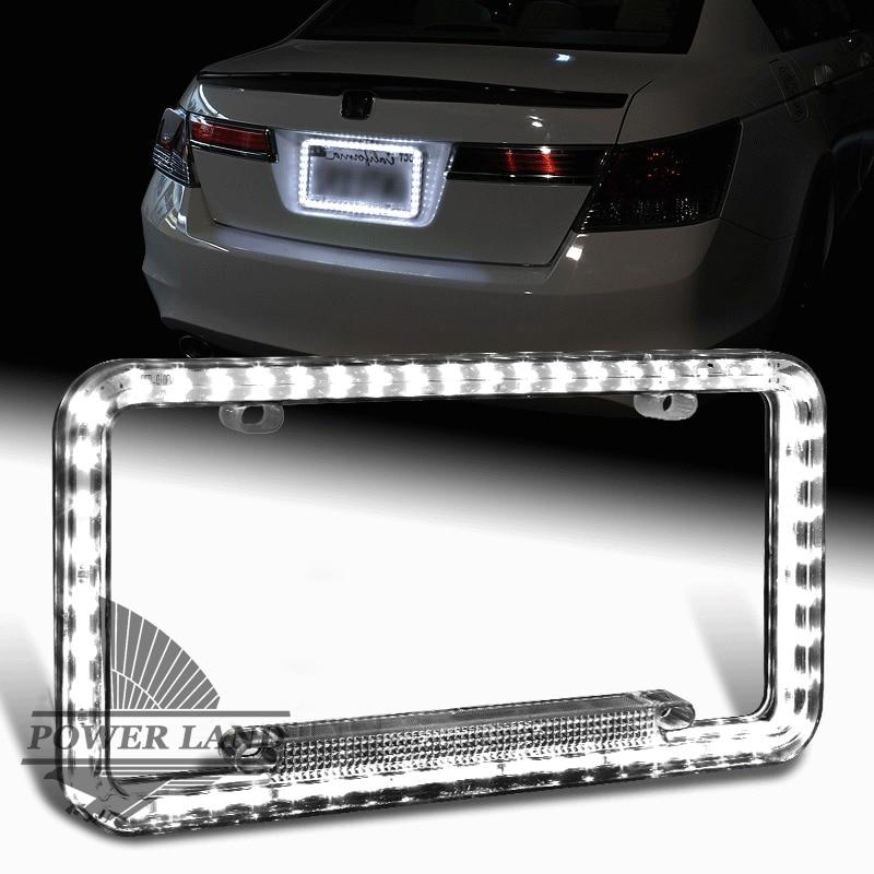 Universal Fit 54LEDS Illuminated 12V DC Acrylic U.S. Standard Car ...