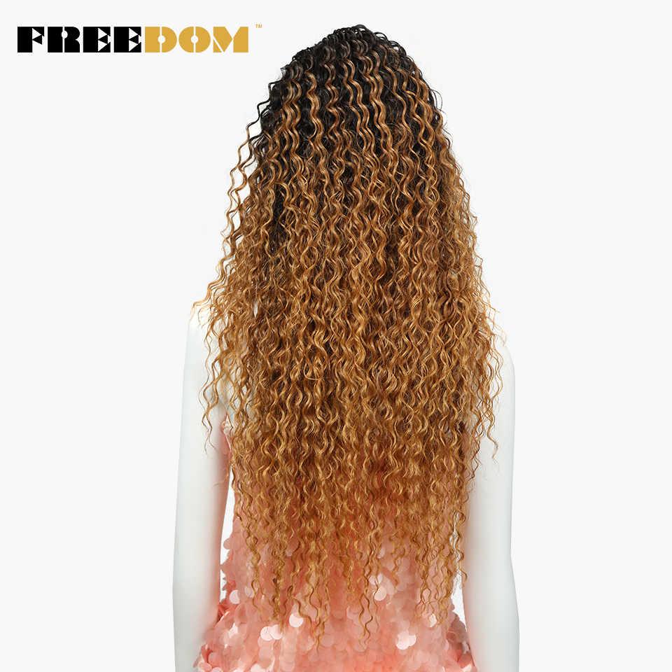 Свободные волосы кружева спереди омбре блонд парик 30 дюймов длинные волнистые африканские американские синтетические парики цвета доступны бесплатная доставка