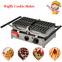 1pc Popular Waffle Cookie Maker Cool Touch Exterior Cake Making Machine with Grilling Press Plates for Restaurant 220V FY 2201