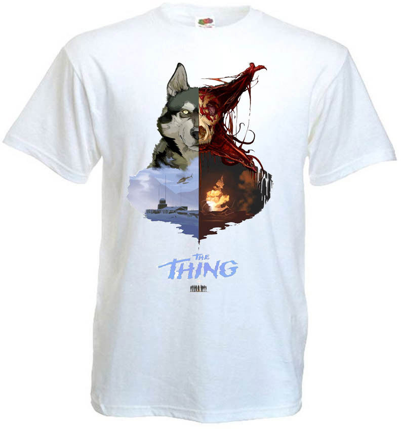 The Thing v.18 T shirt white movie poster all sizes S-3XL Tee Shirt Homme T-shirt Men Funny 2018 Newest Fashion