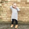 Estancia Ingenuas 2017 nueva marca de moda vestido de la raya niña vestido de niño vestido de la princesa del bebé Niños