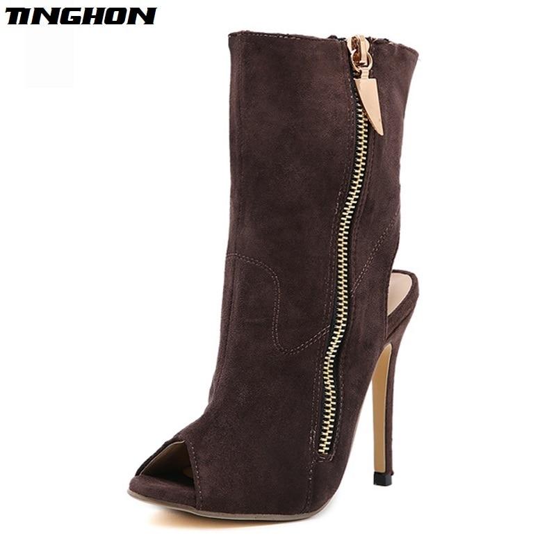 Eilyken-Women-Sexy-Ankle-Boots-Lapel-Front-Open-Stilettos-Pumps-Peep-Toe-Chelsea-Woman-Ankle-Boots