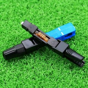 Image 2 - KELUSHI 50pcs/lot SC Optic Fiber Quick Connector Multimode FTTH SC Single Mode UPC Fast Connector