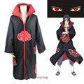 Hot Anime Naruto Akatsuki trajes de Cosplay Uchiha Itachi dolor capa