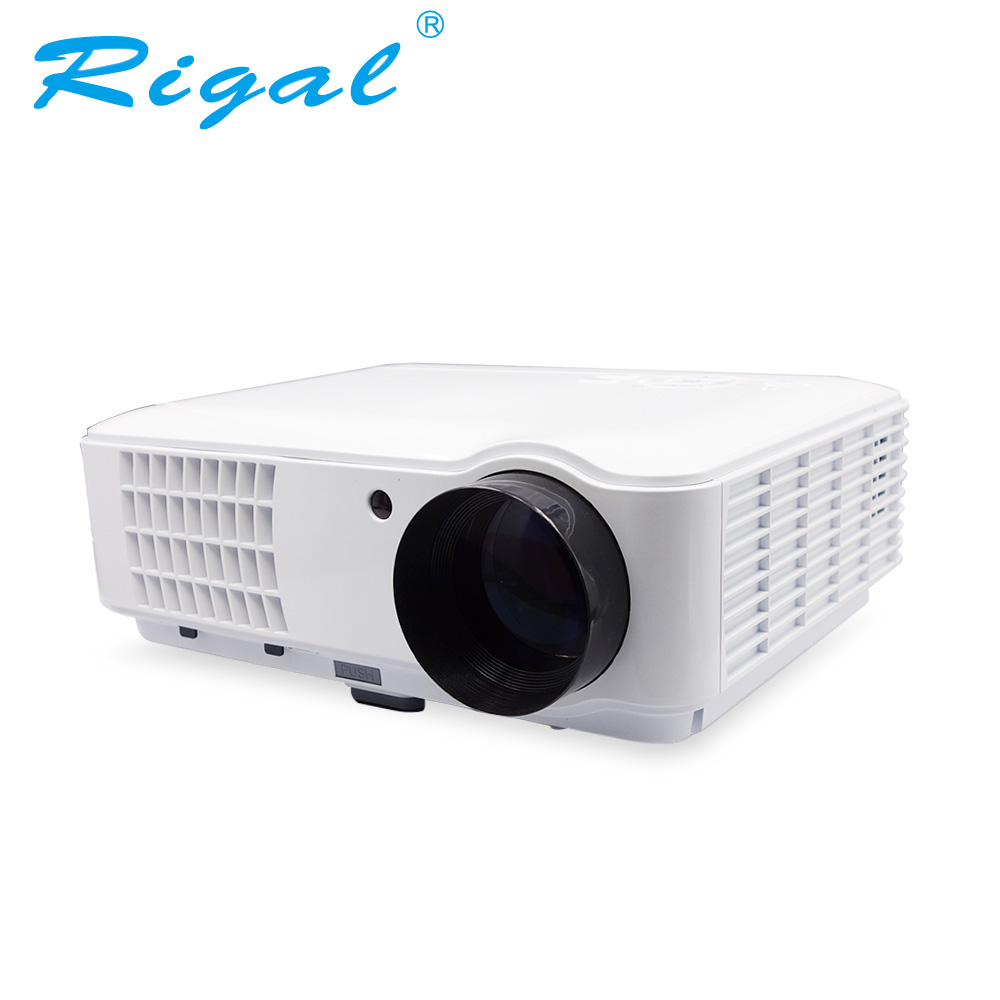 Rigal Projector RD804 LED Smart Projector Android WIFI 2600 Lumens Beamer Portable HD LED WIFI Home Theater Cinema Projector pocket projector ultra thin 1080p hd home theater mini portable wifi smart dlp projector with tripod
