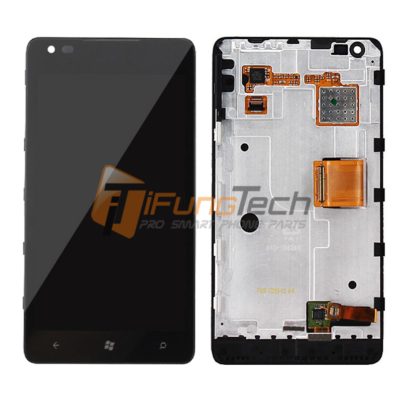ФОТО Original Screen for Nokia Lumia 900 LCD Display with Touch Digitizer Assembly+frame 5pcs/lot