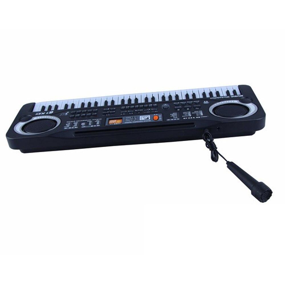 Instrument de musique jouet clavier électronique Portable orgue électrique Piano cadeau pour bébés enfants avec Microphone et câble USB - 3