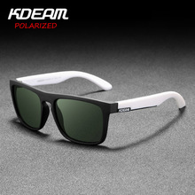 2019 New 20 Colors KDEAM Mirror Polarized Sunglasses Men Square Sport Sun Glasses Women UV gafas de sol Metal hinge UV400 KD156