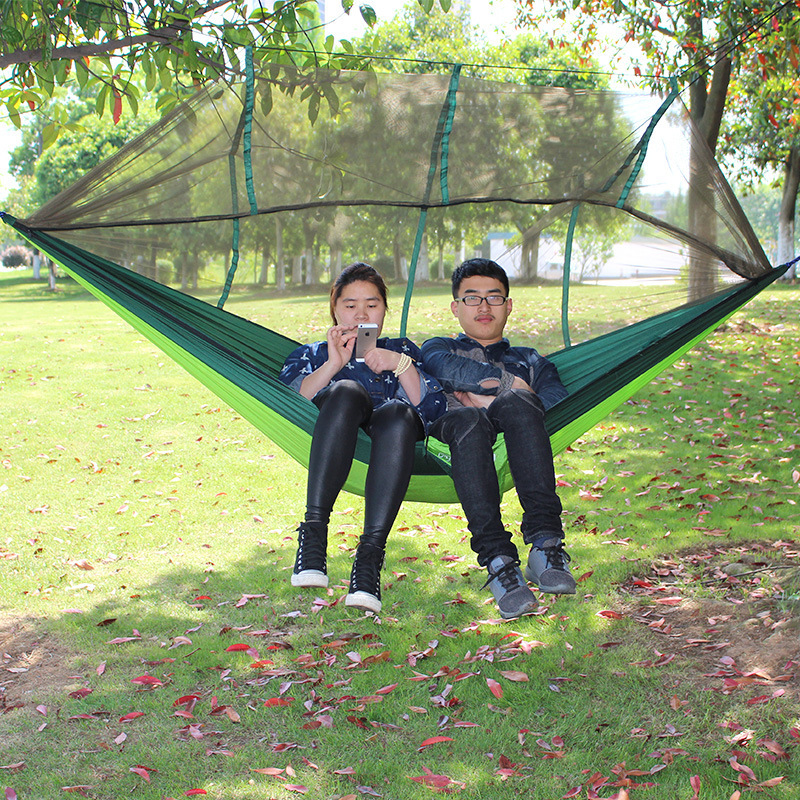 Double Parachute Mosquito Net Hammock Chair Tourism Flyknit Hamaca - Furniture - Photo 3
