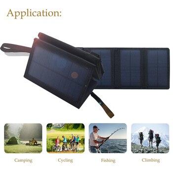 BOGUANG, 5,5 В, 10 Вт, складная система солнечного зарядного устройства, солнечная панель, батарея, зарядная ячейка с USB, для походов, альпинистов, т...