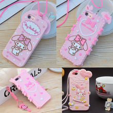 3D Cartoon Lovely My Melody Phone Case for iPhone 5 5s SE 6 6s Plus 7 8 Plus X XR XS Max Soft Silicone Shockproof Cover Fundas